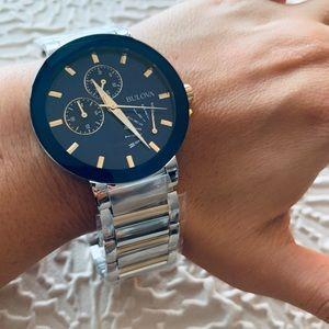 NWT Bulova Men's Futuro Two-Tone Watch 40mm